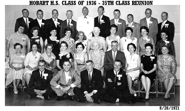 HHS Class of 1936, 35th Reunion, August 1971