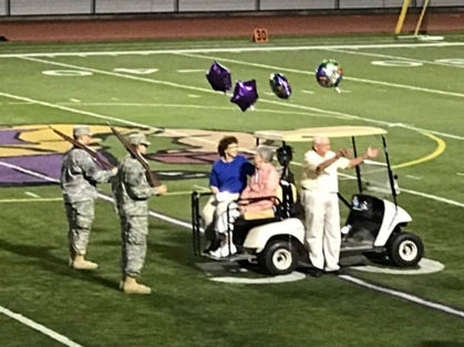 Paul Throne honored at football game